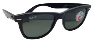 Ray-Ban Polarized RAY-BAN Sunglasses WAYFARER RB 2140 901/58 54-18 Black Frame w/ Green Lenses