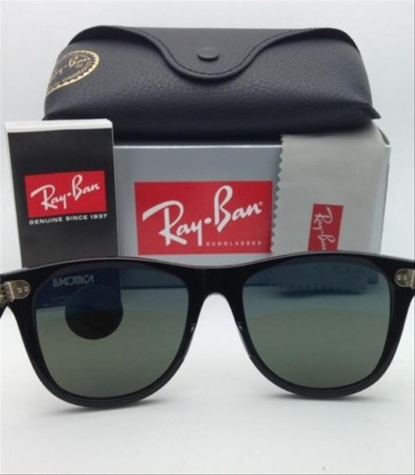 91c1701e300b Ray-Ban Wayfarer Rb 2140 901 58 54-18 Black W  Green Lenses Polarized 901 58  Frame W  Sunglasses - Tradesy