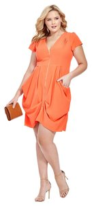 City Chic short dress orange on Tradesy