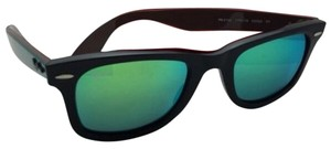 Ray-Ban New RAY-BAN WAYFARER Sunglasses RB 2140 1175/19 50-22 Black Frame w/Green Mirror