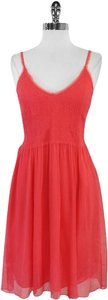 Rebecca Taylor short dress Coral Pink Elastic Silk on Tradesy