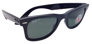 Ray-Ban New Ray-Ban Polarized Sunglasses RB 2140 901/58 50-22 WAYFARER Black Frame w/Green Lenses
