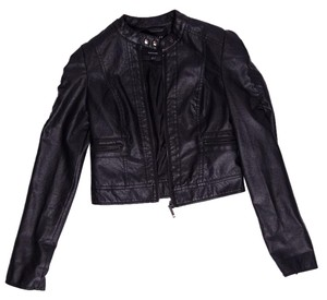 Therapy Faux Leather Motorcycle Jacket