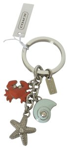 Coach COACH OCEAN AND BEACH NAUTICAL KEYCHAIN CRAB SHELL STAR