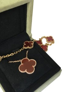 Van Cleef & Arpels Limited Edition Magic Alhambra Red Carnelian With Rose Gold