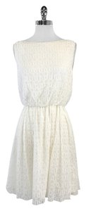 Alice + Olivia short dress Ivory Circle Silk Overlay on Tradesy