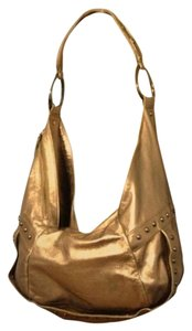 Kenneth Cole Leather Metallic Studded Rivet Hobo Bag