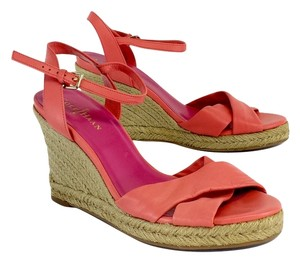 Cole Haan Coral Leather Espadrille Wedges