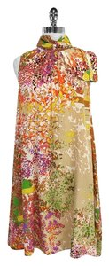 Ali Ro short dress Multi Color Print Silk Sleeveless Shift on Tradesy