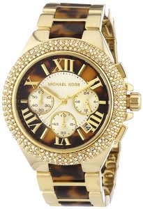 Michael Kors Nwt Michael kors ladies Camille yellow gold glitz chronograph watch MK5901 $295