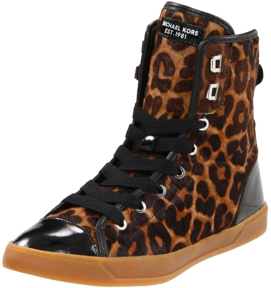 727385aec1f9 MICHAEL Michael Kors Leopard City Leopard-print Haircalf   Patent Leather  High-top Sneakers Sneakers