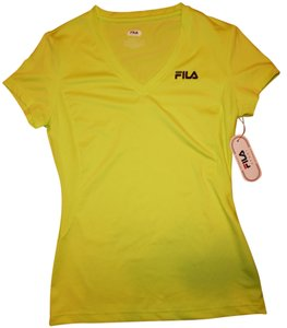 Fila Stretchy V-Neck Hot Pink Workout Gym Sports