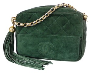 Chanel 2.55 Classic Mini Green Clutch