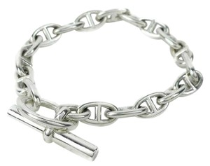 Hermès Authentic Hermes Sterling Silver Chaine d`Ancre Toggle Bracelet