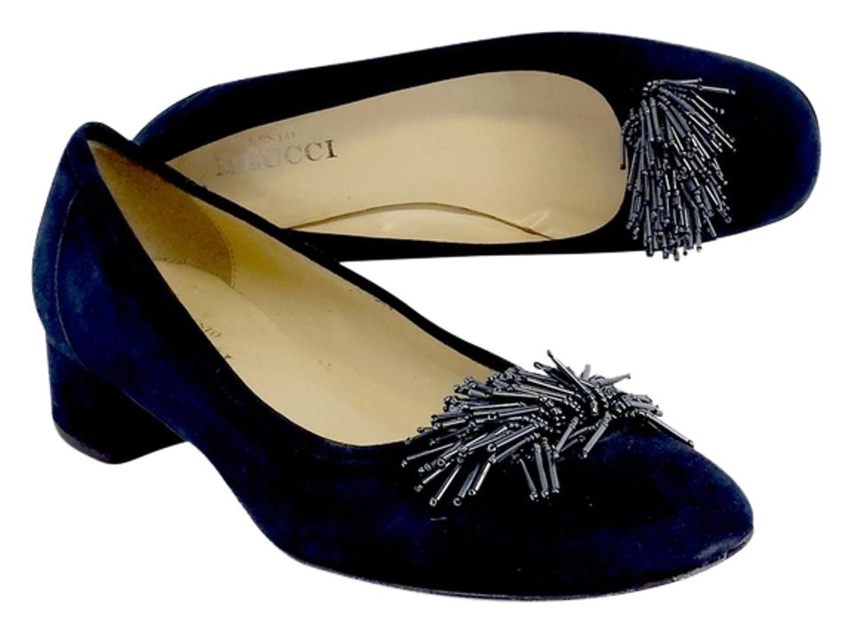 Sesto Low Meucci Blue Embellished Toe Low Sesto Heels Pumps 8867c8