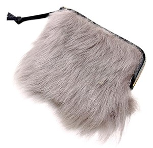Acne Acne Switzerland Fur Pouch Beige