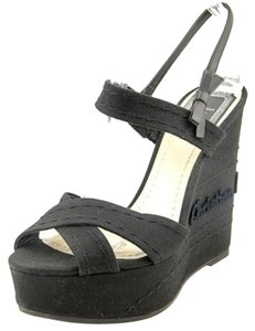 Dior Black Wedges