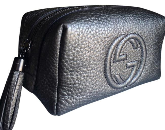 Item - Grey/Silver/Charcoal/Gunmetal/Pewter Soho Collection Cosmetic Bag