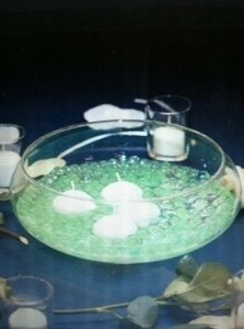 Clear 10' Round Glass Bowl Centerpiece