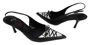 Escada Black & White Pumps