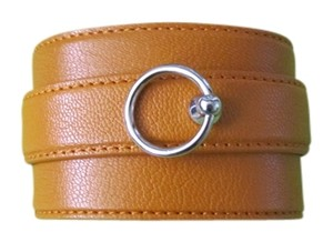 Agnona Agnona leather yellow bracelet