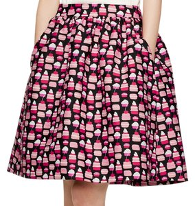 Kate Spade Black Party Classy Skirt Black, Multi