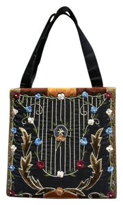 Christiana Embroidered Bohemiam Vintage Wristlet in Black, Assorted