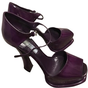 Prada Dark Plum Platforms