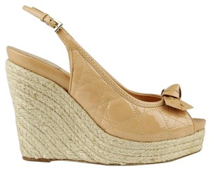 Dior Beige Wedges