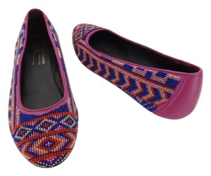Donald J. Pliner Donal J Pink Multi-Colored Flats