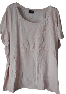 Talbots Plus-size Pima Cotton T Shirt Peach