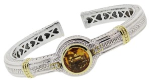 Judith Ripka Judith Ripka Two Tone Citrine Diamond Bangle