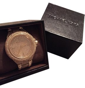 Michael Kors Glitzy Reese Watch, Gold, One Size