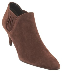 Prada Camoscio Suede Ankle Brown Boots