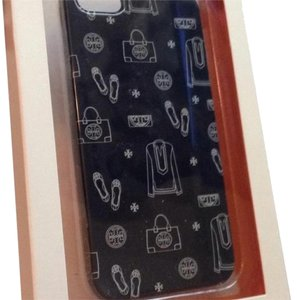 Tory Burch Icon Print Navy Hardshell Case Iphone 5 new in box