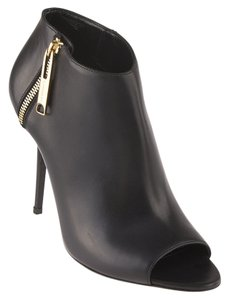 Burberry Assendon Leather Ankle Black Boots
