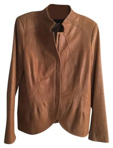 Elie Tahari Caramel Leather Jacket
