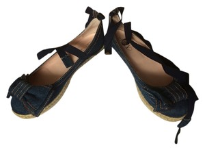 RED Valentino Bow Ballet denim Flats