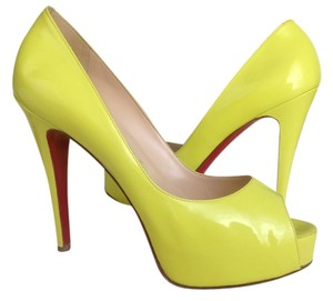 Christian Louboutin Like New Neon yellow Platforms
