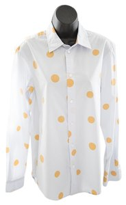 Marc by Marc Jacobs Long Sleeves Button Down Shirt Light blue with orange dots