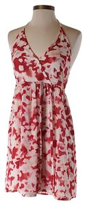 Alice + Olivia short dress Red Silk Print Halter on Tradesy