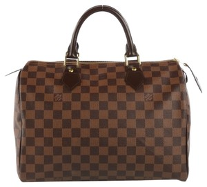 Louis Vuitton Loius Speedy 30 Satchel in Damier Ebene