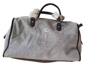 Juicy Couture Satchel in Grey /Drk brown
