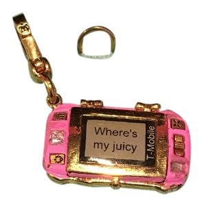 Juicy Couture JUICY COUTURE ADORABLE and CRAZY RARE 2005 PROMOTION T-MOBILE CELL FLIP PHONE CHARM!!