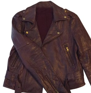 Rebecca Minkoff Plum Leather Jacket