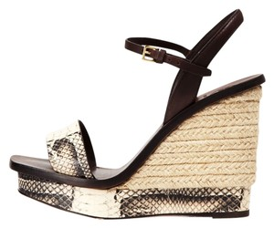 Tory Burch Snake Coconut Wedges