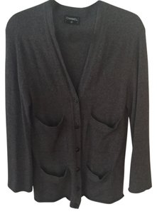 Chanel Cashmere Grey Cardigan