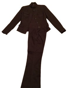 Tahari Chocolate Brown Pant Suit