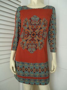 Other Alice Moon Collection Wtag Poly Knit Pullover Exposed Zip Tribal Dress