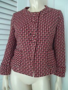 Ann Taylor LOFT Ann Taylor Loft Blazer Retro 50s 60s Wool Blend Unique Button Front Chic